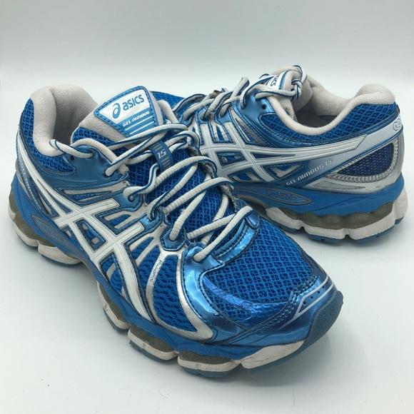 code promo b47ef 08ebf ASICS Gel Nimbus 15 IGS Blue Sneakers Tennis 7.5